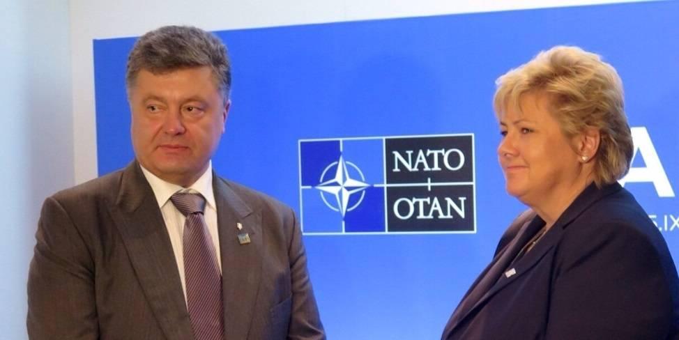 Den ukrainske presidenten, Petro Porosjenko, med Norges statsminister Erna Solberg 5. september, 2014. Foto: Statsministerens kontor/Flickr