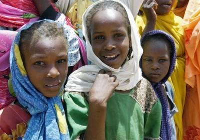 Barn i Darfur